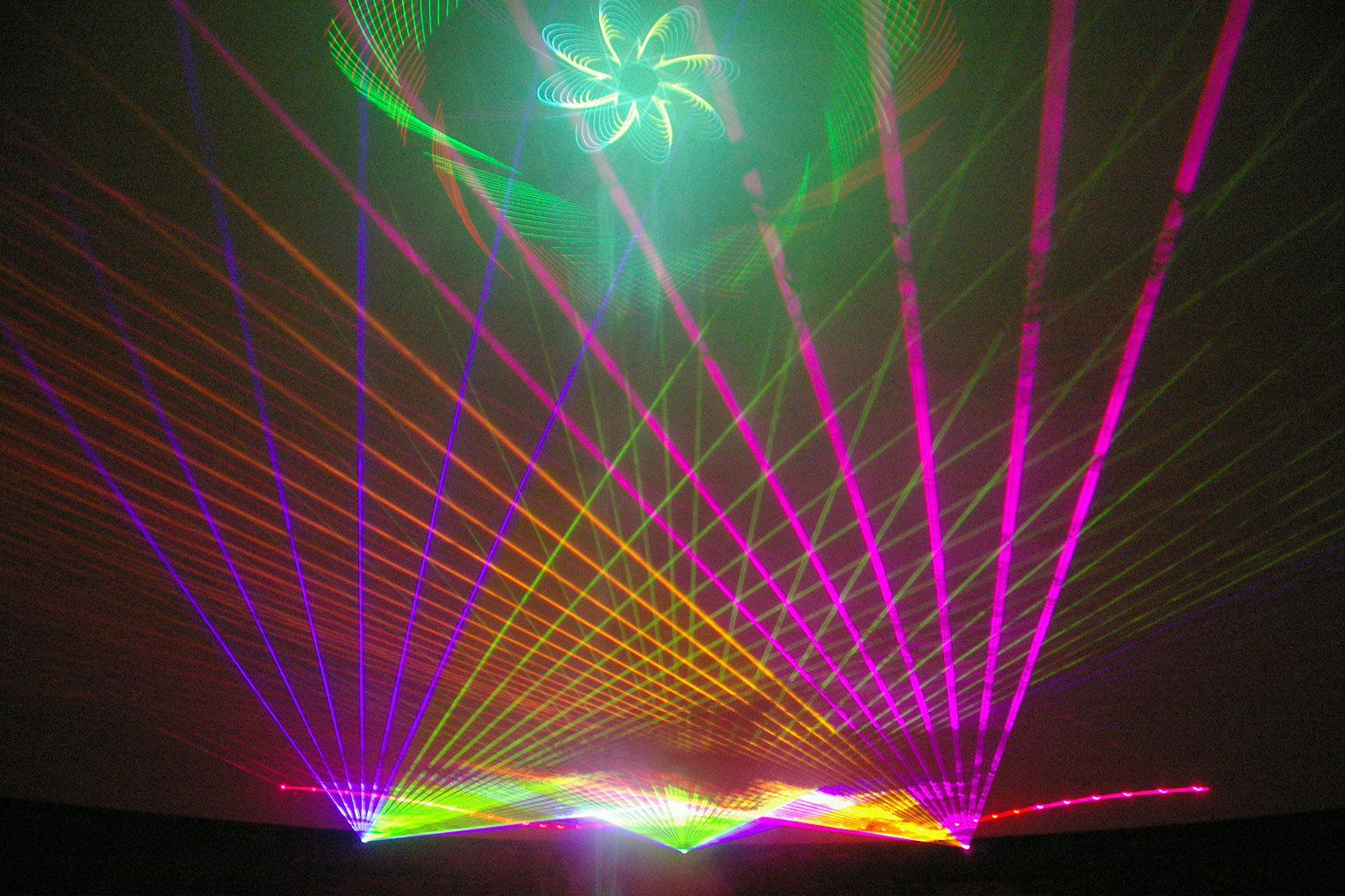 Lasers in the dome 2007